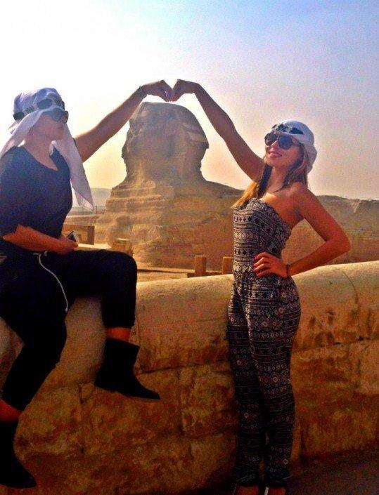 Sisters G Le Caire - Visite des Pyramides avant le Show ! 15